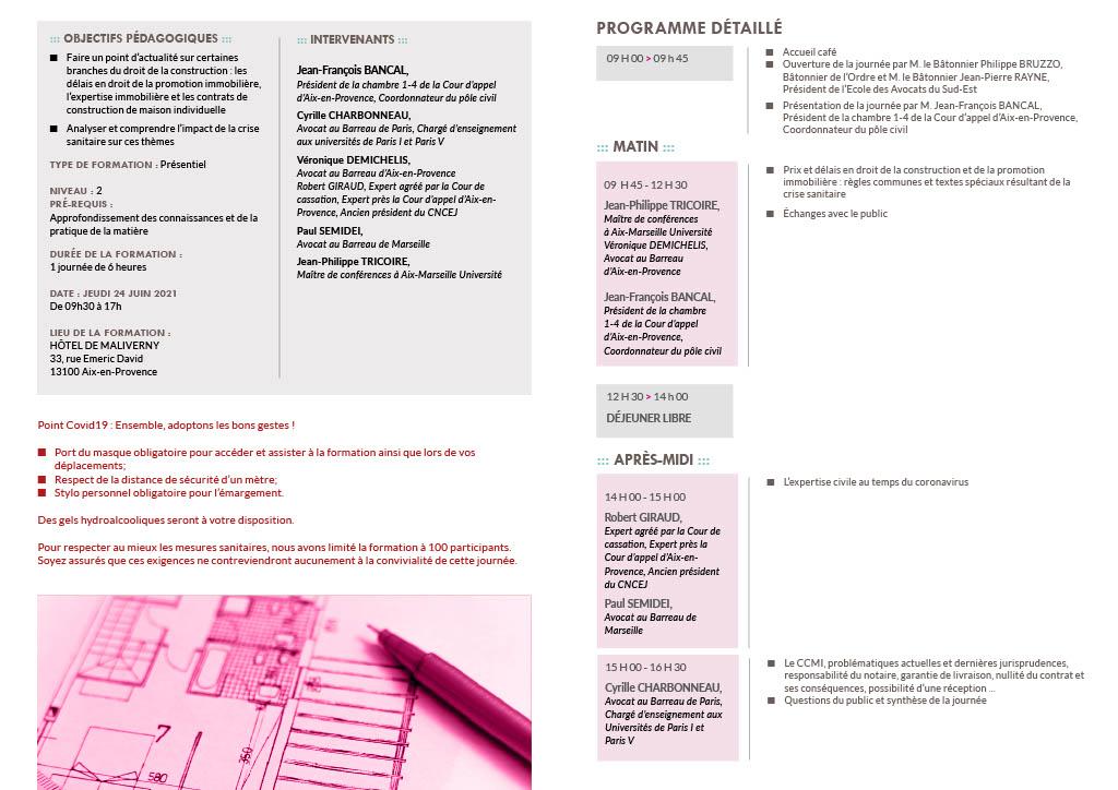 Programme détaillé de la formation