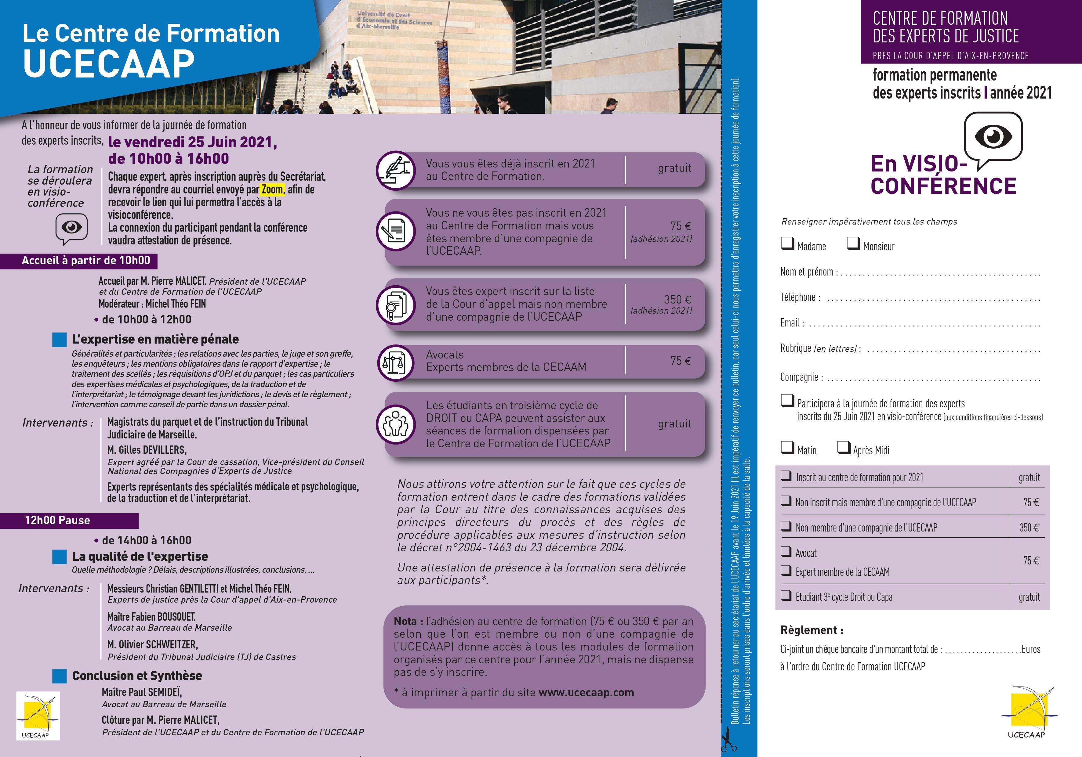 Programme de la formation des experts de justice